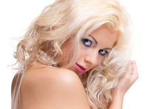 Portrait of beautiful blonde woman. Royalty Free Stock Photography