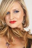 Portrait of beautiful blonde woman stock image