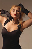 Portrait of beautiful blonde woman. Fashion shot Royalty Free Stock Photography