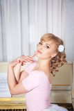 Portrait of a beautiful blonde woman Royalty Free Stock Photos