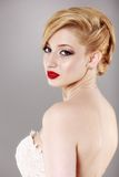 Portrait of beautiful blonde woman Royalty Free Stock Image
