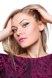 Portrait of a beautiful blonde woman Stock Images