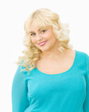 Portrait of beautiful blonde woman smiling Stock Photos