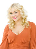 Portrait of beautiful blonde woman smiling Stock Image