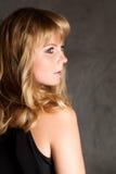 Portrait of a beautiful blonde  woman Stock Photos