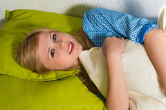Portrait of a beautiful blonde woman Royalty Free Stock Images