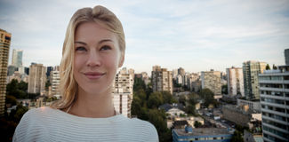 Composite image of portrait of beautiful blonde women Royalty Free Stock Photography