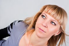 Portrait of a beautiful blue-eyed blondes Stock Images
