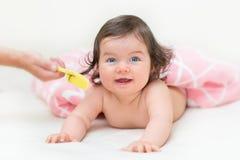 Portrait of beautiful blue-eyed girl Royalty Free Stock Photography
