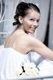 Portrait of the beautiful bride Stock Photos
