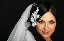 Portrait of the beautiful bride Stock Image