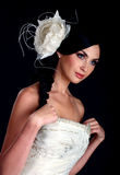 Portrait of the beautiful bride stock photography