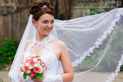 Portrait of a beautiful bride Royalty Free Stock Photography