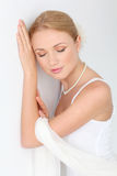 Portrait of beautiful bride Royalty Free Stock Photos