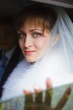 Portrait of beautiful bride Stock Photo
