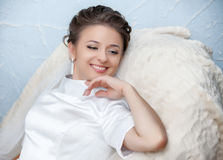 Portrait of beautiful bride. Royalty Free Stock Images