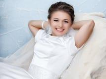 Portrait of beautiful bride. Stock Photo