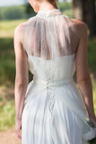Portrait of a beautiful bride back Royalty Free Stock Photos