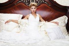 Portrait beautiful bride Stock Photos