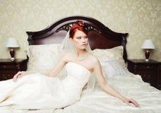 Portrait beautiful bride Stock Image