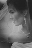 Portrait of a Beautiful Bride Close up glowing from the sun light Royalty Free Stock Images