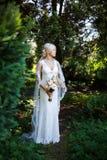 Portrait of beautiful bride Stock Photos