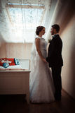 Portrait of a beautiful bride and groom Royalty Free Stock Photo