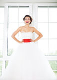 Portrait of beautiful bride Royalty Free Stock Image