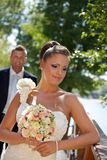 Portrait of beautiful bride Stock Image