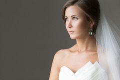 Portrait of a beautiful bride Royalty Free Stock Photo