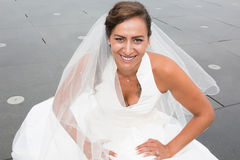 Portrait of beautiful bride posing in her wedding day Royalty Free Stock Photography