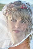 Portrait of a beautiful bride with veil Royalty Free Stock Image