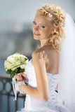 Portrait of beautiful bride Stock Photography