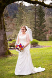 Portrait of Beautiful Bride on Wedding Day Royalty Free Stock Image