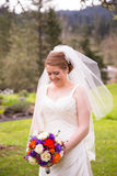 Portrait of Beautiful Bride on Wedding Day Stock Photography