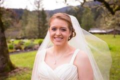 Portrait of Beautiful Bride on Wedding Day Stock Photo