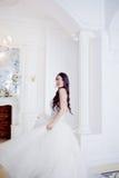 Portrait of beautiful bride. Wedding decoration. Luxurious light interior Stock Image