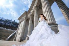 Portrait of the beautiful bride wedding. Royalty Free Stock Photos