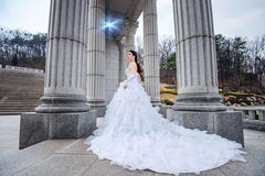 Portrait of the beautiful bride wedding. Royalty Free Stock Images