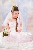 Portrait of beautiful bride. Wedding dress. Stock Photography