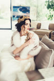 Portrait of beautiful bride. Wedding dress Royalty Free Stock Image