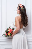 Portrait of beautiful bride. Wedding dress. Stock Image