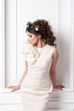 Portrait of beautiful bride. Wedding dress. Royalty Free Stock Photo