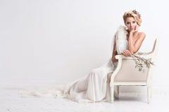Portrait of beautiful bride. Wedding dress. stock images