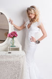 Portrait of beautiful bride. Wedding dress. Stock Photography
