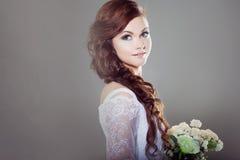 Portrait of beautiful bride. Wedding dress Royalty Free Stock Photography