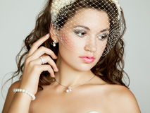 Portrait of beautiful bride. Wedding photo Stock Image