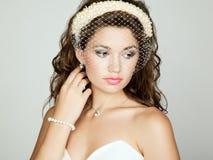 Portrait of beautiful bride. Wedding photo Stock Photography