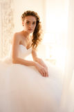 Portrait of the beautiful bride Stock Images