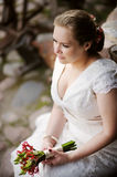 Portrait of a beautiful bride Stock Photos
